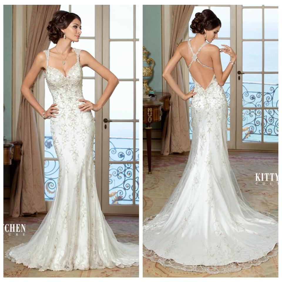 KittyChen Couture Ivory Evelyn Sexy Wedding Dress Size 6 (S) - Tradesy