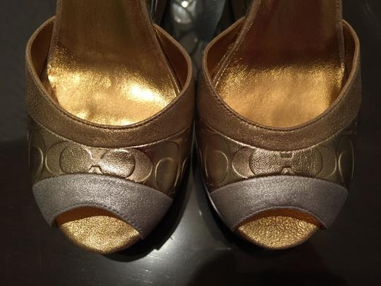 Coach Gold/Silver Wedges Image 1