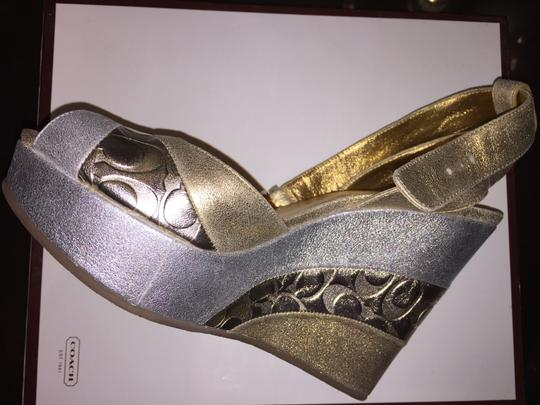 Coach Gold/Silver Wedges Image 2