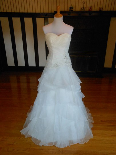 Ivory/Silver 20wb1056 Destination Wedding Dress Size 6 (S) Image 1