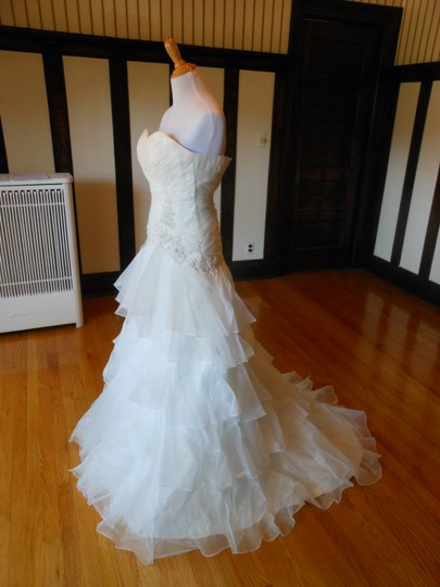 Ivory/Silver 20wb1056 Destination Wedding Dress Size 6 (S) Image 2