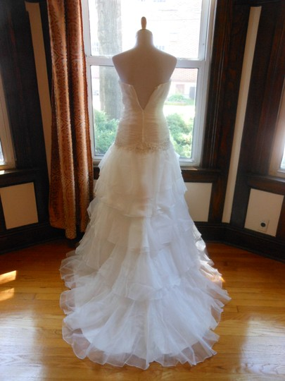 Ivory/Silver 20wb1056 Destination Wedding Dress Size 6 (S) Image 4
