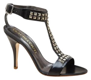 Claudia Ciuti Leather Made In Italy Black Sandals