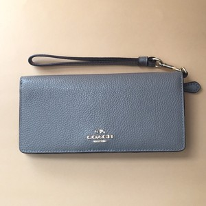 Coach 53759 Slim Colorblock in Polished Pebble Leather WALLET Wristlet