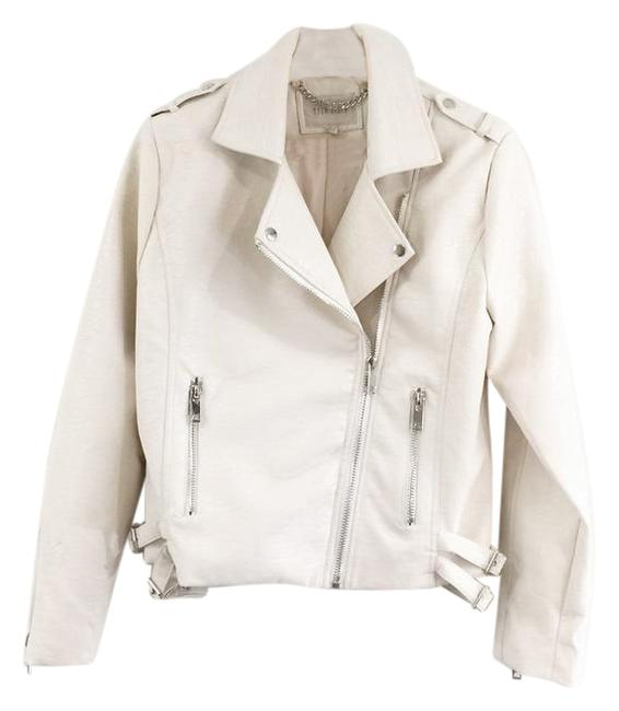 Item - Cream O Biker Faux Leather Jacket Size 12 (L)