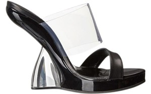 Alexander McQueen Platform Acrylic Plastic Made In Italy Black / Clear Sandals