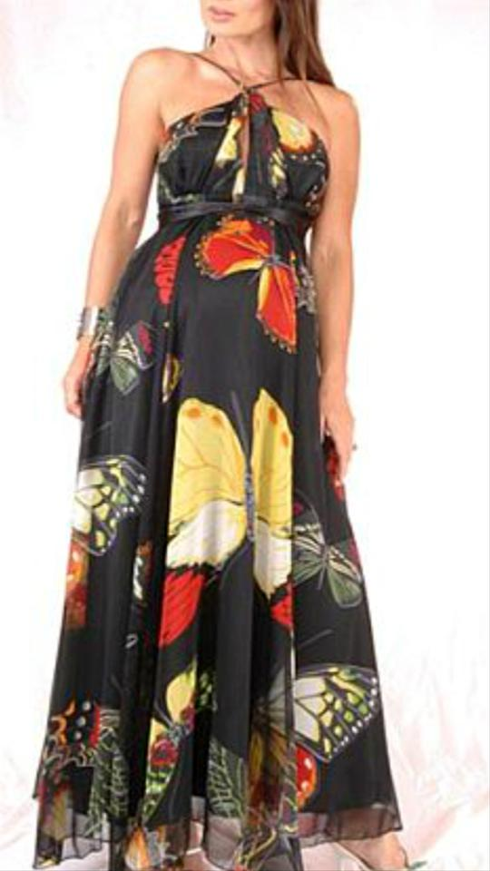 490d6ddf2cd1a Multicolor Butterfly Gown Maternity Dress Size 12 (L, 31, 32) - Tradesy