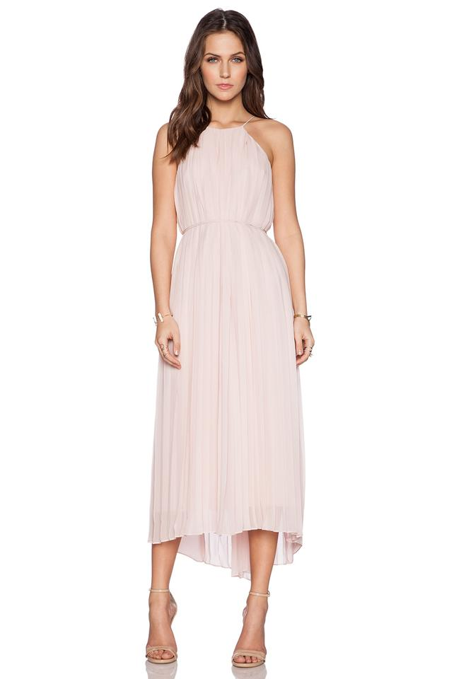 b3a48bbc5 Tibi Pink Simone Pleated Silk Midi Zen Blush Long Casual Maxi Dress Size 0  (XS) 60% off retail