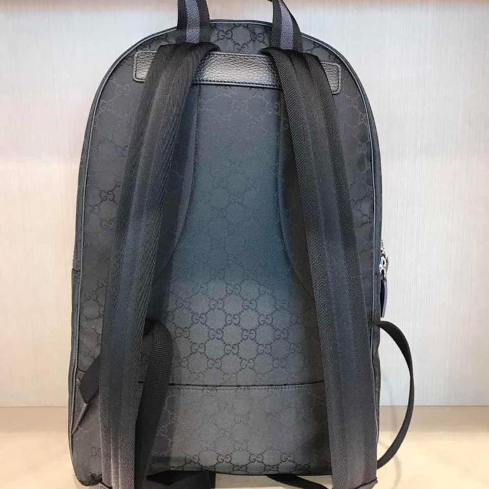 Gucci Nylon GG Guccissima Slim Backpack Unisex Travel Bag (Black) Authentic  NWT f34796503a980
