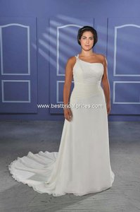 Bonny Bridal Ivory 1011 Wedding Dress Size 24 (Plus 2x)
