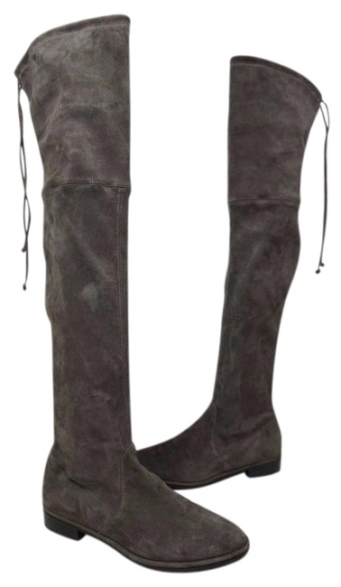 Item - Londra Grey Lowland Over The Knee Suede Boots/Booties Size US 7 Regular (M, B)