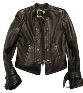Kelly Wearstler Biker Leather Leather Black Jacket