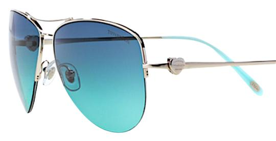 49d34bbda3ae tiffany   co silver blue aviator lens tf 3021 free 3 day shipping  sunglasses 36% off.