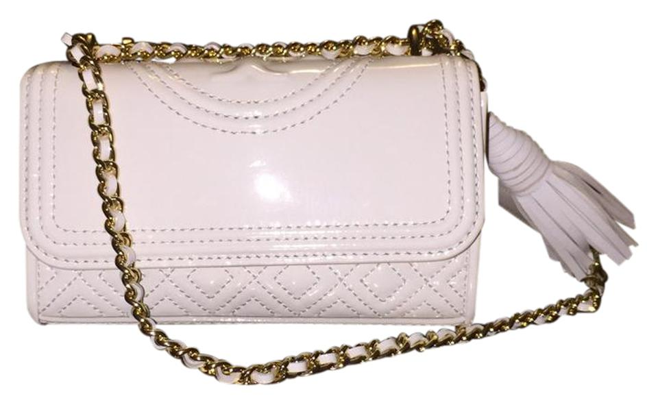 5a2c8952383 Tory Burch Fleming Patent Micro In New Ivory Cross Body Bag - Tradesy