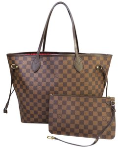 Louis Vuitton Lv Neverful Damier Ebene Canvas Mm Shoulder Bag