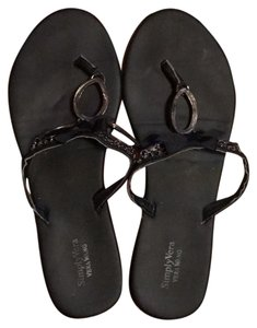 Vera Wang black Sandals