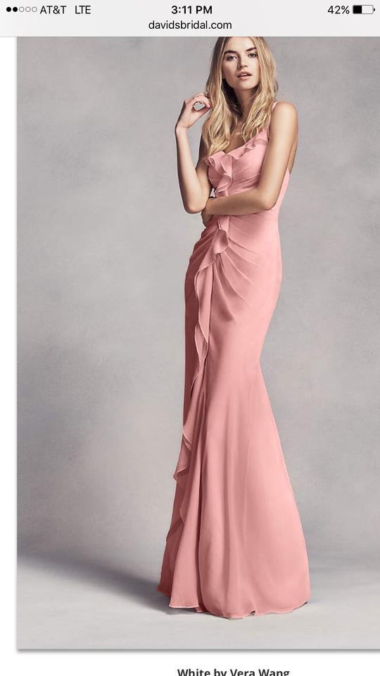 32fb2aaefc8 White by Vera Wang Ballet Pink Chiffon Blush Style  Vw360154 Traditional  Bridesmaid Mob Dress ...