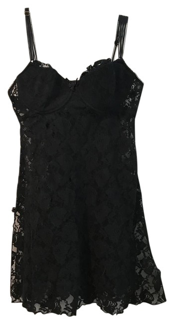 Item - Black 34c Padded Top and Lace Lingerie