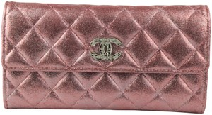 Chanel Glitter Woc Wallet Pink Clutch