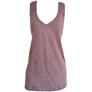 Catherine Malandrino Linen French Designer Sleeveless Top Grey