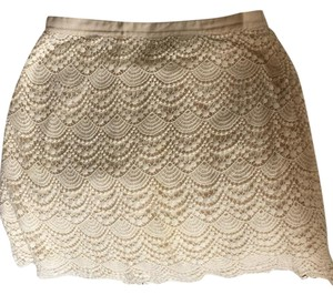 Club Monaco Mini Skirt off white