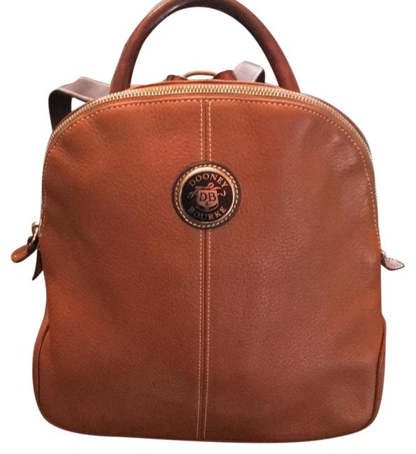 Item - Tan Brown Textured Leather Back with Smooth Leather Straps Backpack