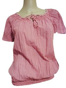 Fashion Bug Medium Plaid Top Pink