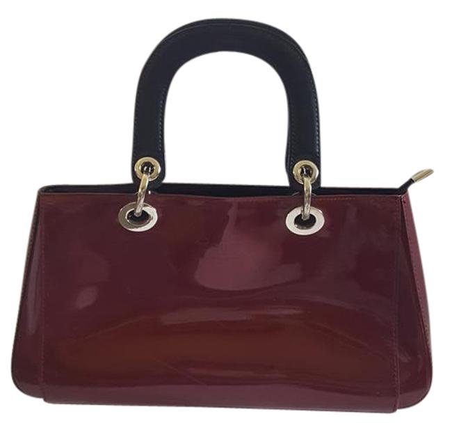 Item - Burgany Patent Leather Clutch