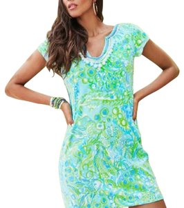 """Lilly Pulitzer short dress """"Any Fins Possible"""" print on Tradesy"""