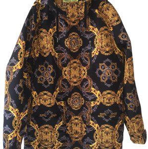 Versace Black yellow gold and some dark gray Jacket