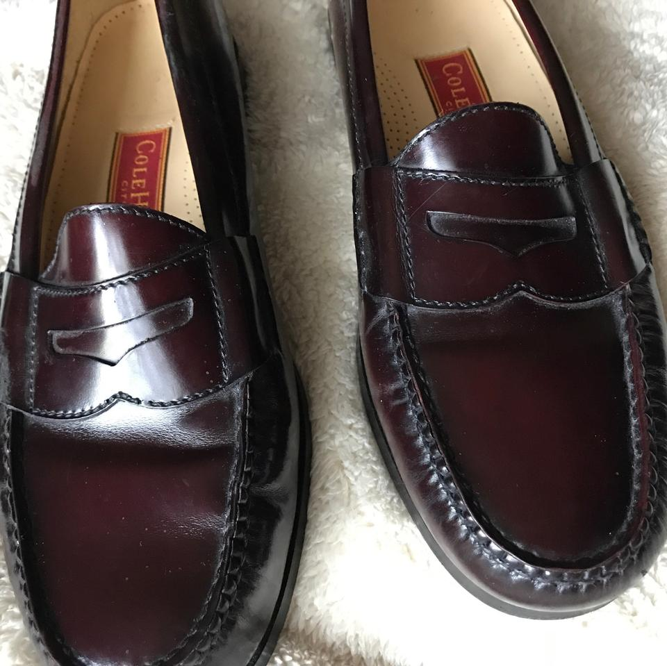 2f1abc93356 Cole Haan Burgundy Pinch Penny Moc-toe Loafers Flats Size US 10 Wide ...