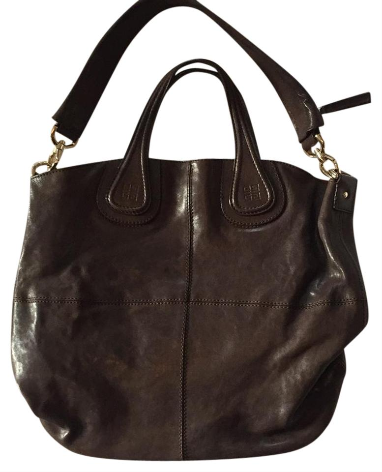 0d0a52a616a5 Givenchy Nightingale Brown Leather Satchel - Tradesy