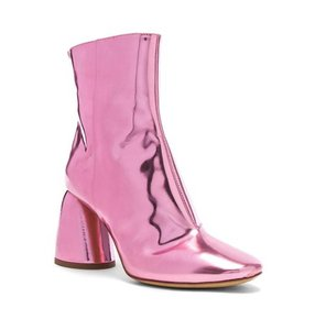 ELLERY Metallic Leather Pink Boots