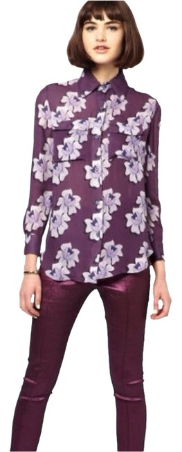 House of Holland Button Down Shirt Purple