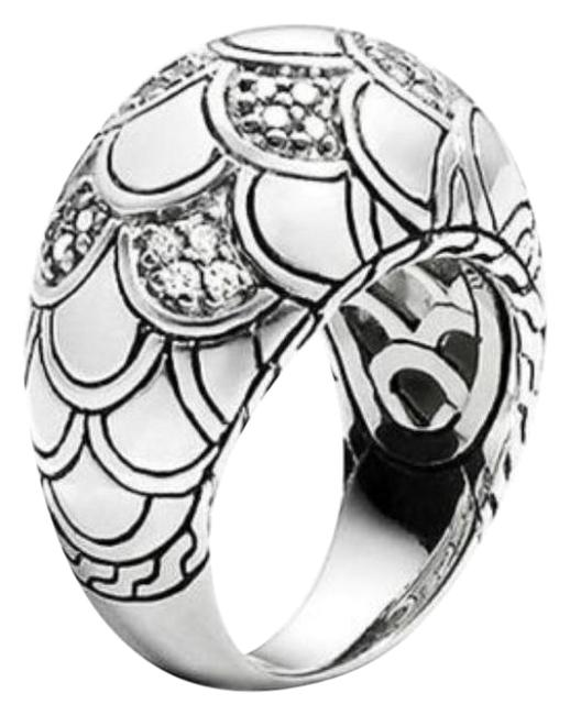 Item - Silver/White Naga Sterling Scale Dome Diamond Ring