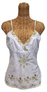 Active Basic Beads Adjustable Top White with gold