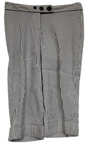 White House | Black Market Stripes Zero Bermuda Shorts gray/ivory