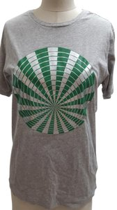 Dries van Noten T Shirt Gray silver grass green