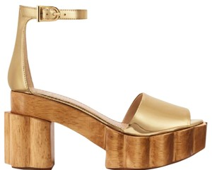 Tory Burch Metallic Gold Mules