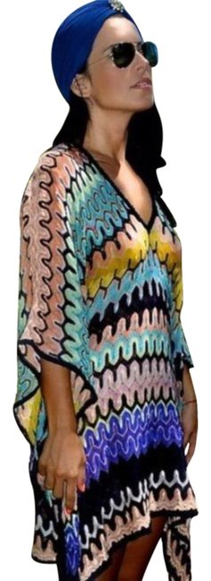 Item - Multicolor Knit Kaftan Cover-up/Sarong Size OS (one size)