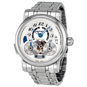 Montblanc Stainless Steel White Dial Ref# 107068 Men's Watch