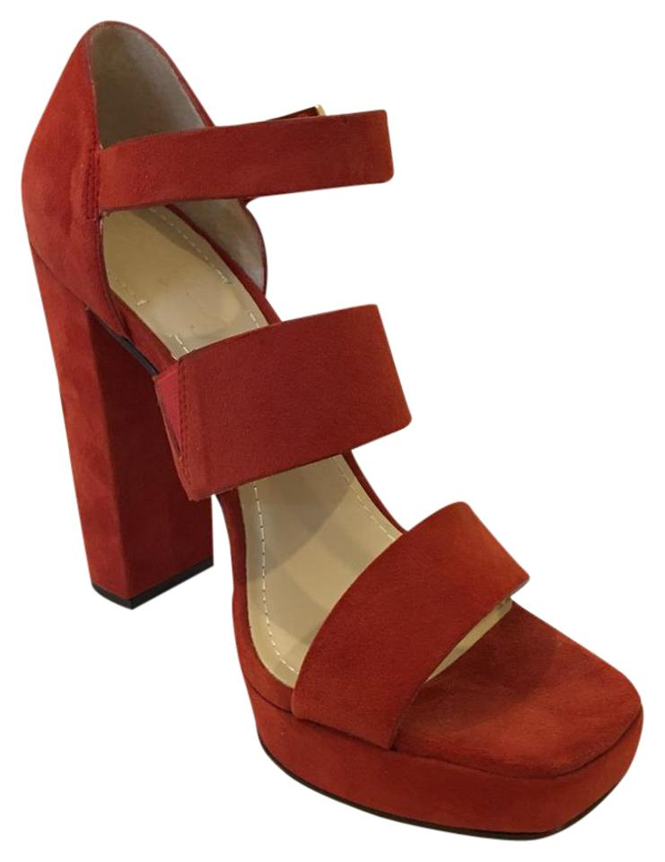 Elizabeth and James Burnt Sandals Orange Suede Sandals Burnt Platforms 3c0cb1