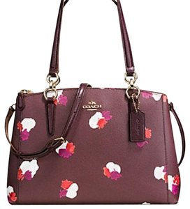 Coach New With Tags Satchel in Burgundy Multi