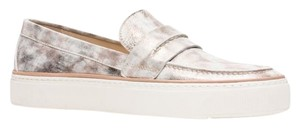 Stuart Weitzman Leather Loafers Luxe Designer Clouded Flats