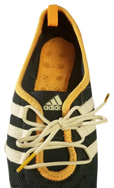 Item - Navy and Yellow Climacool Boat Sleek Sneakers Size US 8 Regular (M, B)