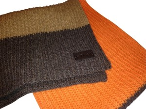 Coach Men's Coach BLOCK STRIPE KNIT Scarf ORANGE Multi COLOR 100% WOOL F83749