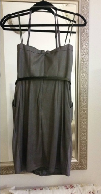 Jessica Simpson Sweetheart Party Date Holiday Belted Gold Prom Sparkle Dress Image 4