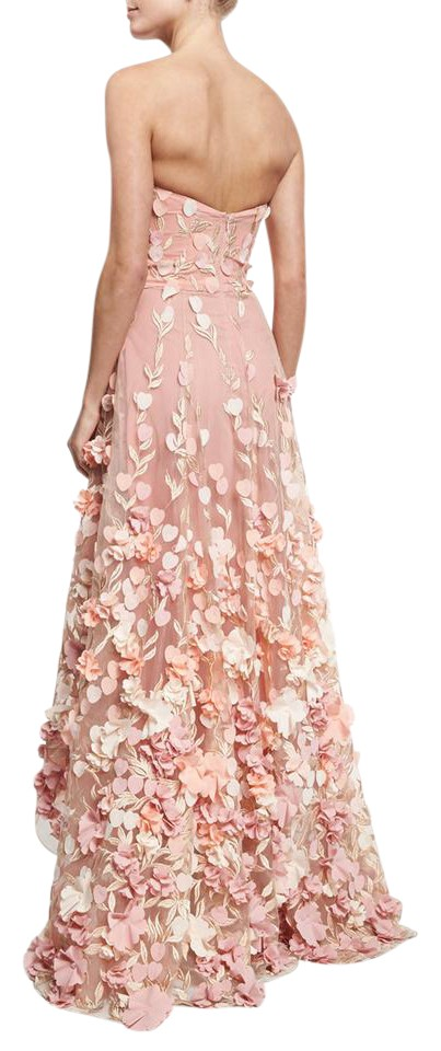 Marchesa Notte Pink Gown Long Formal Dress Size 4 (S) - Tradesy