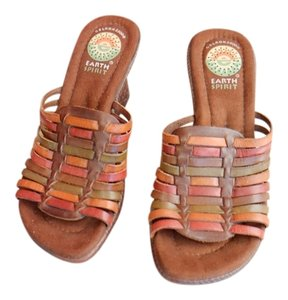 Earth Spirit Brown Multi Wedges