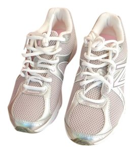 New Balance White and Pink Athletic